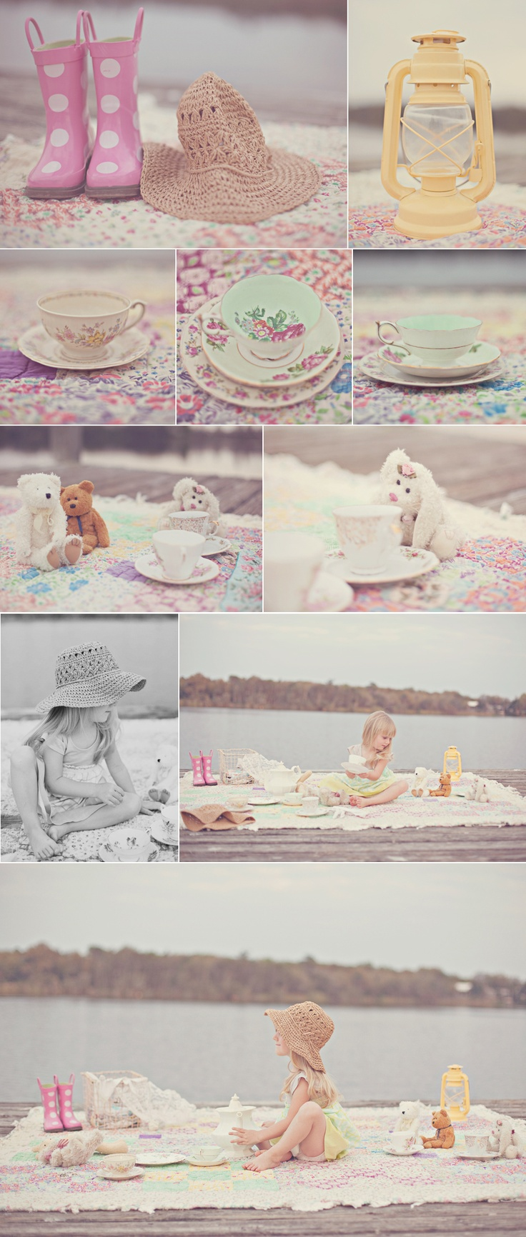 Tea Party on the Dock | Outdoor Photo Session Idea | Prop Ideas | Child Photography | Summer