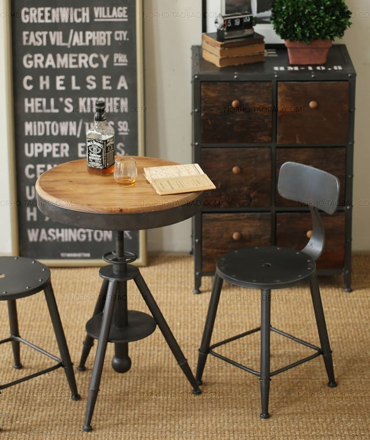 Retro Industrial Style Bar Stools