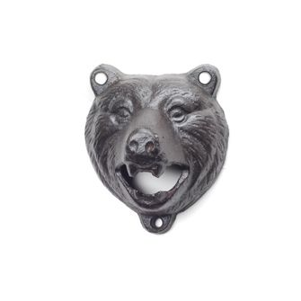 GROWLING BEAR WALL OPENER - his growling bear wall mount is more than just a decorative piece - it's a bottle opener! Made of cast iron, it can be mounted to the wall of a fence, deck or outdoor barbeque area so it's always close at hand.  $5.99 arriving soon