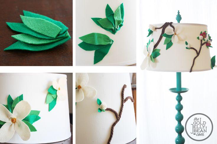 Diy Anthropologie Inspired Floral Lamp Shade Make It