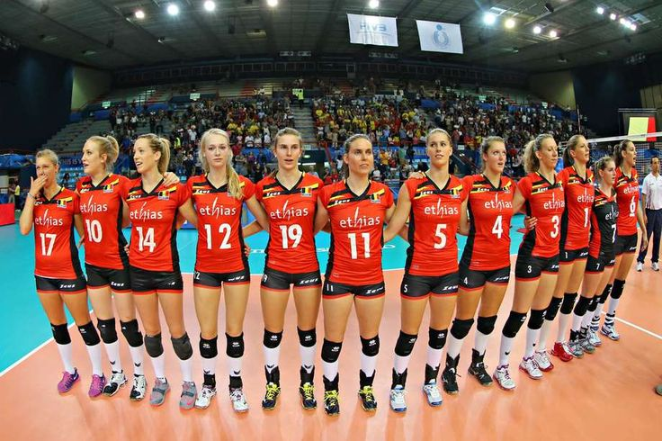 female volleyball players #Belgium