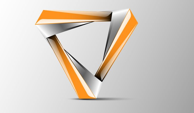 new triangle 3d ...X 3d Logo Design