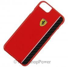 FERRARI CUSTODIA ORIGINALE HARD COVER FIBRE DI CARBONIO BACK CASE PER APPLE IPHONE 7 RED ROSSA NEW NUOV COMPRA SU - WWW.MAXYSHOPPOWER.COM