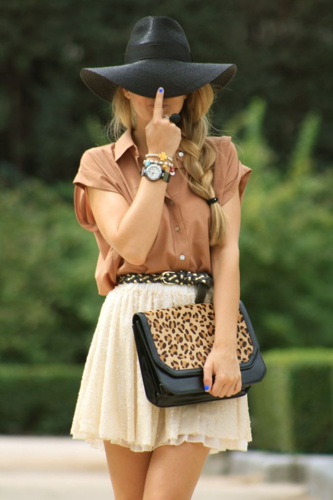 : Cheetahs, Skirts, Style, Clutches, Summer Outfits, Leopards Prints, Animal Prints, Floppy Hats, Bags