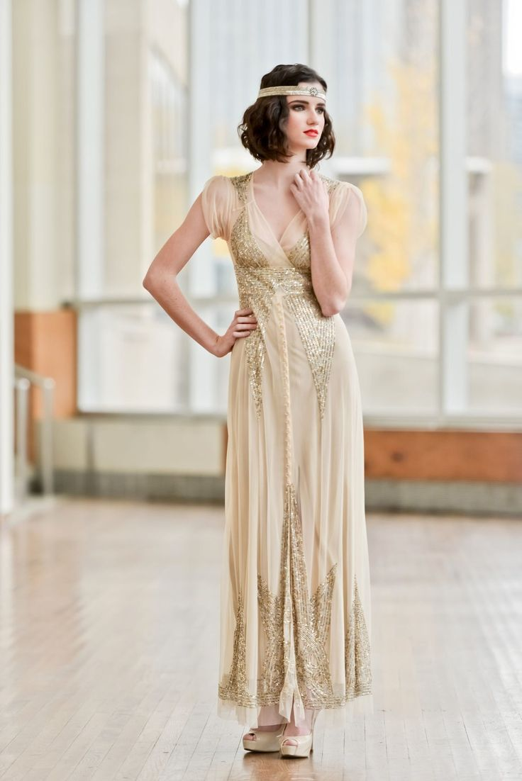 84 best vintage wedding dresses gowns images on pinterest gatsby style wedding gown 1920s inspired wedding dress ombrellifo Images