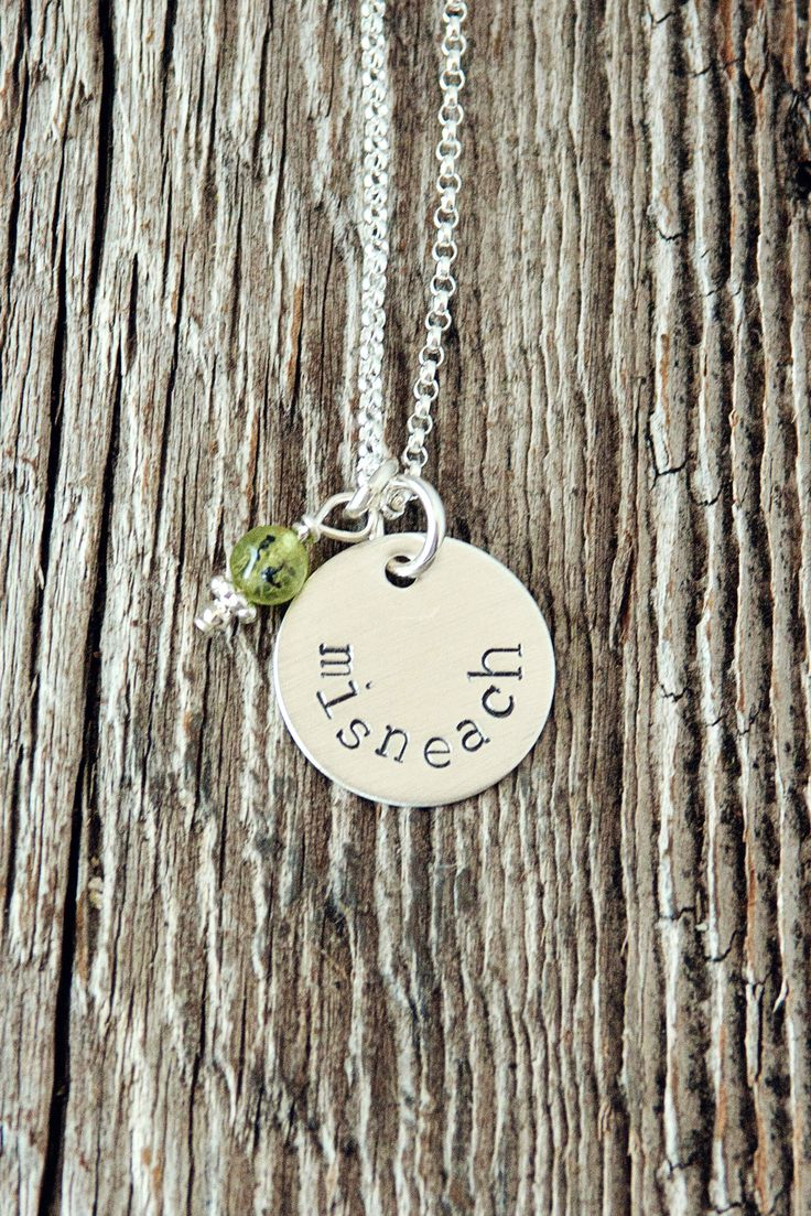 How to read and write gaelic - Misneach Irish Gaelic For Courage Necklace