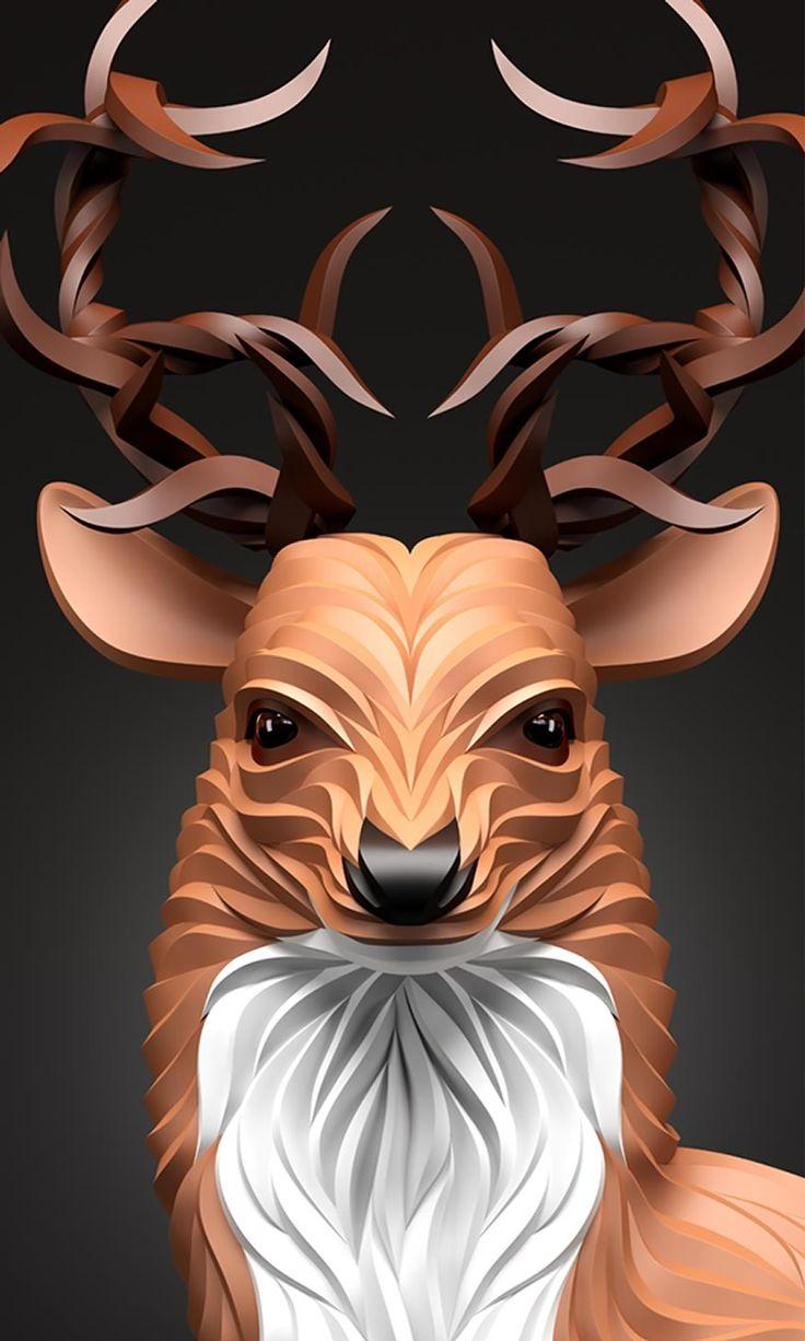 ilustra-ciervo-cuernos                                                       …