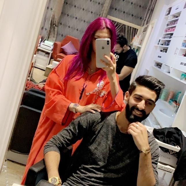 New Hair Look With Bae Newlook Coiffure Hair Hairlook Hairstyle Haircolor Purplehair Koukizababy Fashioncouple Cute New Hair Look New Hair Hair Looks