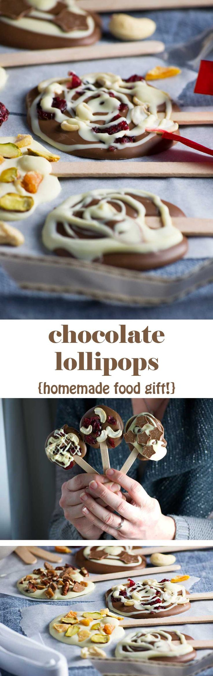 Chocolate lollipops - a perfect last-minute food gift