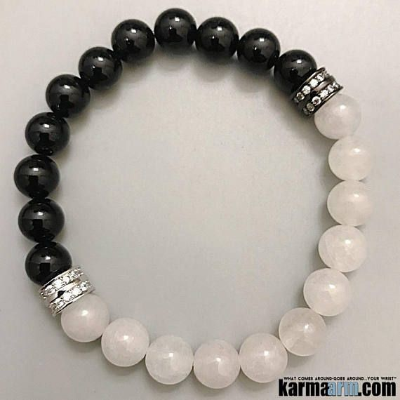 STORMY WEATHER: Yoga Bracelets | Reiki Healing | Meditation Jewelry  ♛ #Snow #Quartz provides peaceful energies in a whirlwind environment. #Black #reiki #Bracelets #BEADED #Gemstone #Mens #CZ #Diamond #GiftsForHim #Lucky #womens #Jewelry #gifts #Chakra #Healing #Kundalini #Law #Attraction #LOA #Love #Mantra #Mala #wisdom #CrystalEnergy #Spiritual #Gifts #Mommy #Blog #Meditation #prayer #mindfulness #friendship #Stacks #Charm #Lucky #ValentinesDay #Valentine #Valentines