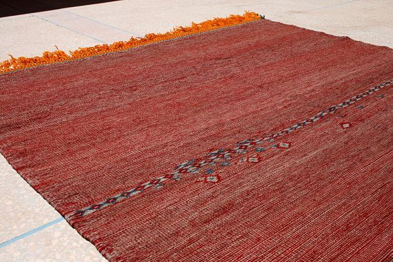 Rote Decke Überwurf Marokkanischer Kelim Teppich Rot Wandteppich Wandbehang Flachgewebter Berber Teppich Flachgewebe Designerteppich