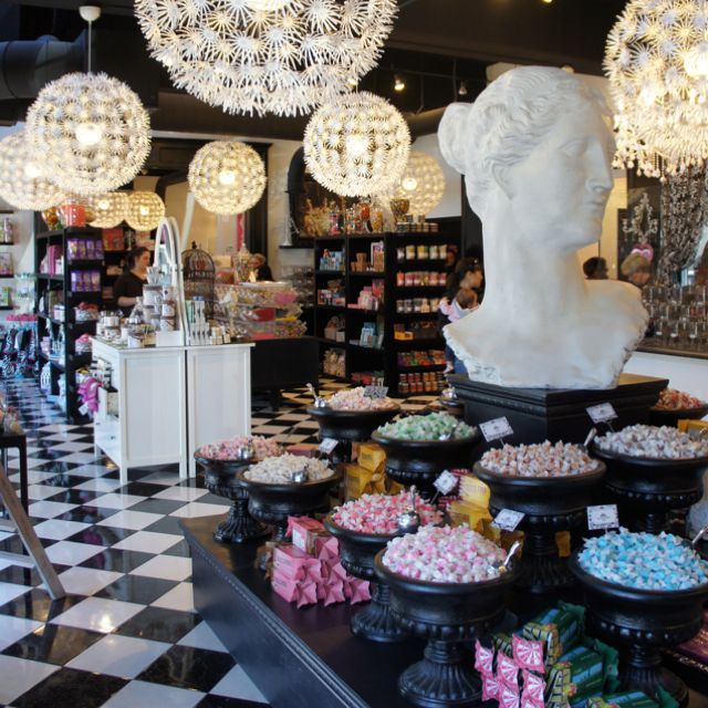 Pinkitzel in Oklahoma City, OK. Handsdown the prettiest chic candy store and cupcake bakery I've ever been to in my life.