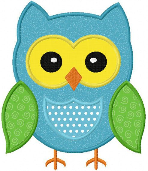 Instant Download Owl Applique Machine Embroidery Design NO:1122
