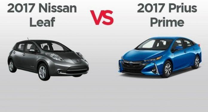So sánh giữa Nissan Leaf và Toyota Prius Prime