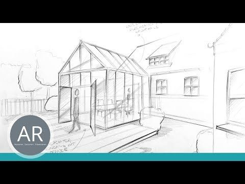 Architektur-Skizzen. Ideen im Handumdrehen visualisieren. Architektur-Zeichenkur…