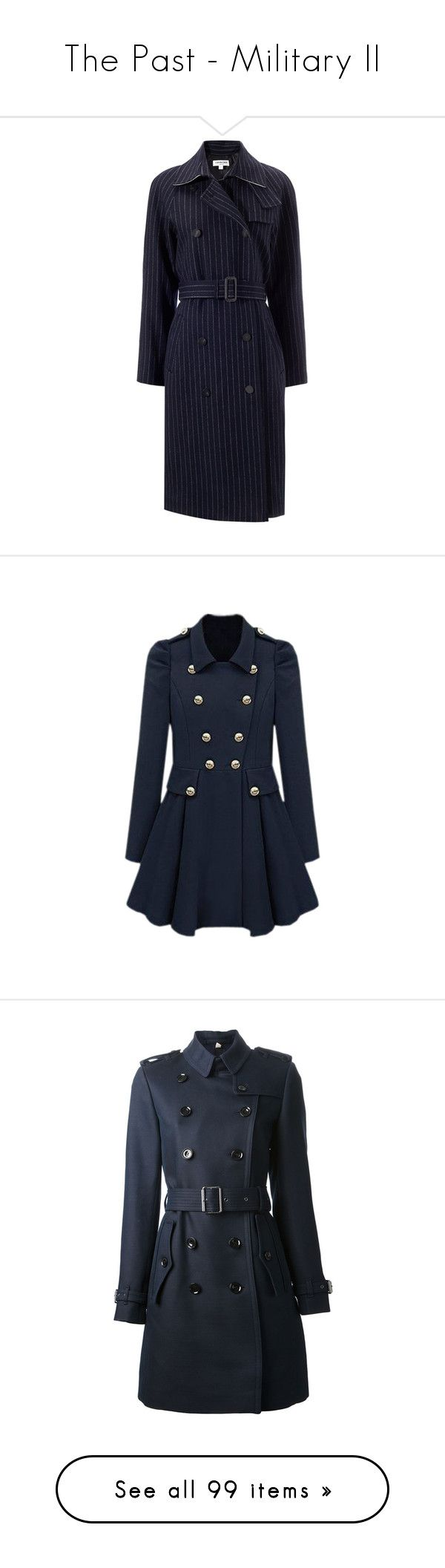 """The Past - Military II"" by xstyx ❤ liked on Polyvore featuring outerwear, coats, coats & jackets, jackets, navy, sports coat, navy sport coat, navy blue sport coat, double-breasted trench coats and blue sports coat"