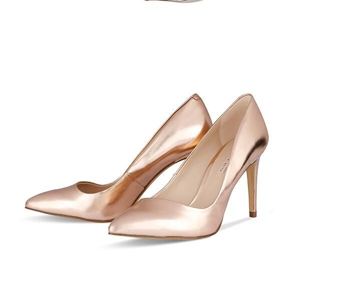 rose gold wedding evening shoes for bride high heels prom