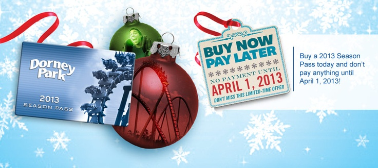 2013 season passes available now buy today and dont pay