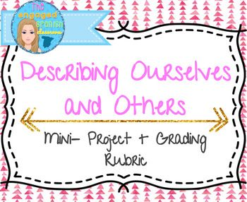 Spanish project, Spanish introductions, Introducing self and others in Spanish, Spanish verb SER, Spanish descriptionsSpanish 1 Empecemos Mini-Project: Introductions and Describing PeopleStudents are prompted to create a presentation (can be digital on Keynote, Google Slides, etc.) that introduces themselves and others.Clear directions and teacher example make this assignment possible in just one class period!Simple grading rubric also included.Students are called to use: subject pronouns…