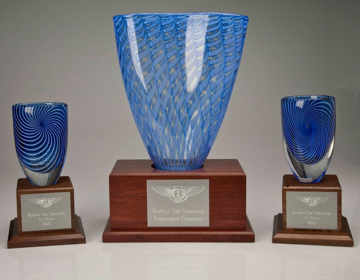 Trophies created for the Bentley Cup Challenge at Arnold Palmer's Bay Hill Golf Course @L.V. Harkness #LVHarkness