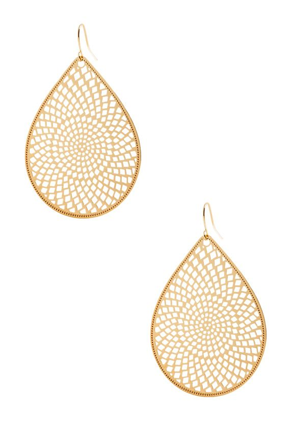 Perfectly perforated and so laid-back chic, JustFab's Drop Around earrings are easy, breezy cool.