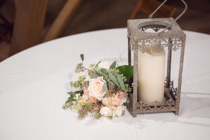 Rustic elegant centerpiece //  photo by j.woodbery photography, see more: http://theeverylastdetail.com/mint-rustic-elegant-alabama-wedding/