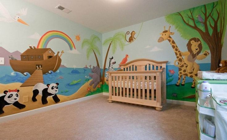 1000 images about church nursery ideas on pinterest for Church nursery mural