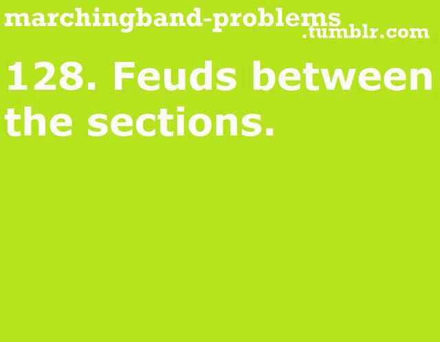 marching band problem: feuds between the sections #MarchingBand #Relatable