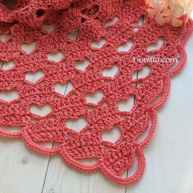 3306 best new items to crochet images on pinterest knit crochet shawl hello march with hearts by fionitta fionitta crochet dt1010fo
