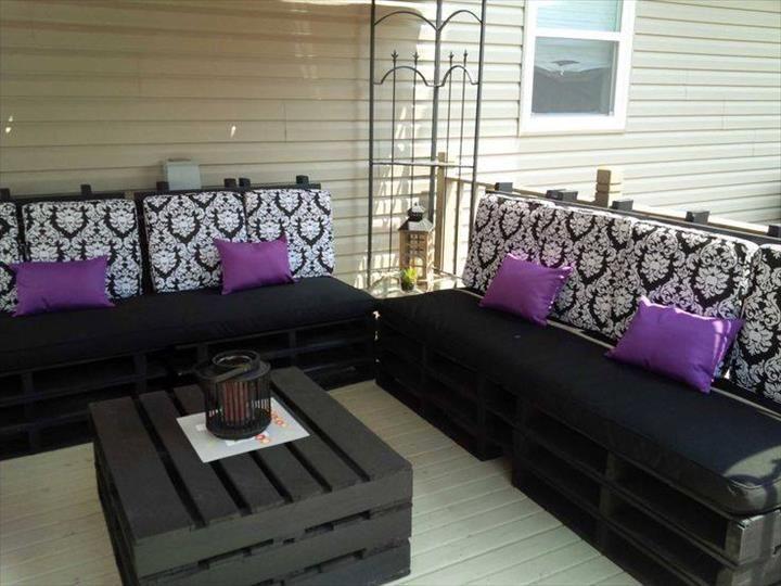 Preciosos conjuntos para la terraza hechos con palets for Conjunto para terraza