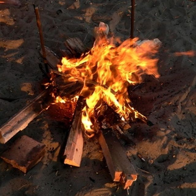 Fake campfires can look very real.                                                                                                                                                     More