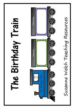 A birthday train for your classroom wall.  Ideas:  place photos of the children in their birthday month carriage.  children write their name in their birthday month carriage.  make birthday wish gifts and pop them up the top of the carriage.**********************************************************************  Suzanne Welch Teaching ResourcesTpT credits Earn TpT credits by providing feedback on this product after you purchase it.