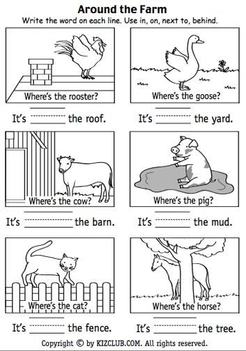 Here S A Page For Students To Practice Positional Terms