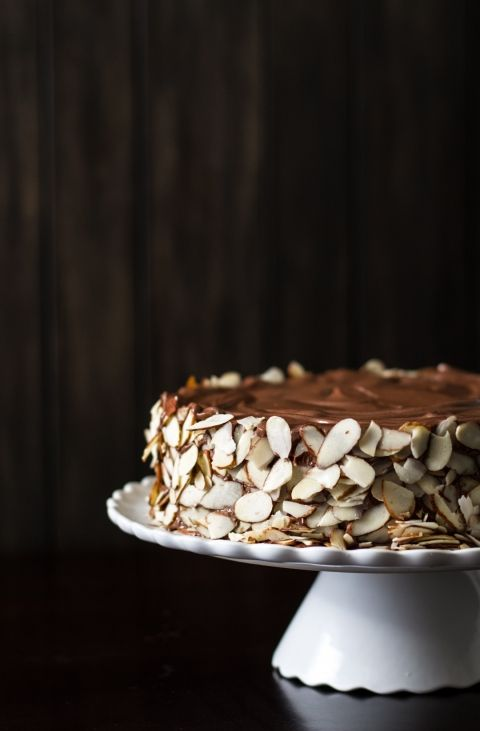 Chocolate, almonds and rum come together in Julia Child's Queen of Sheba cake #recipe #baked
