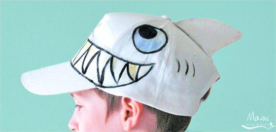 mami chips & crafts: Trasformare un cappello in squalo
