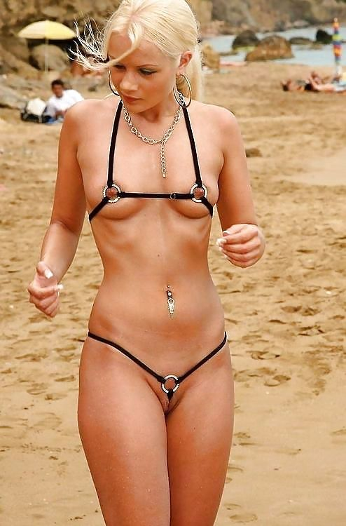 Bikini milf beach rather