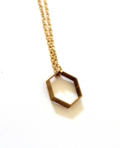 Hexagon Shape Necklace | Hello Polly