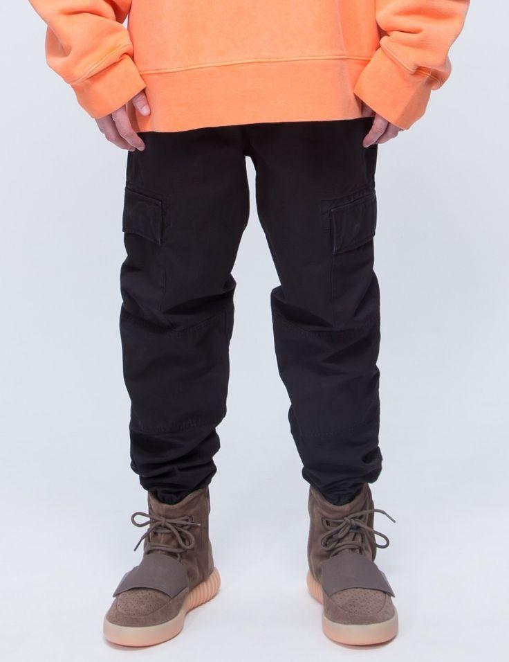 Kanye West Vintage Cargo Pants 2017 Mens Best Version Ankle-Tied Joggers Streetwear
