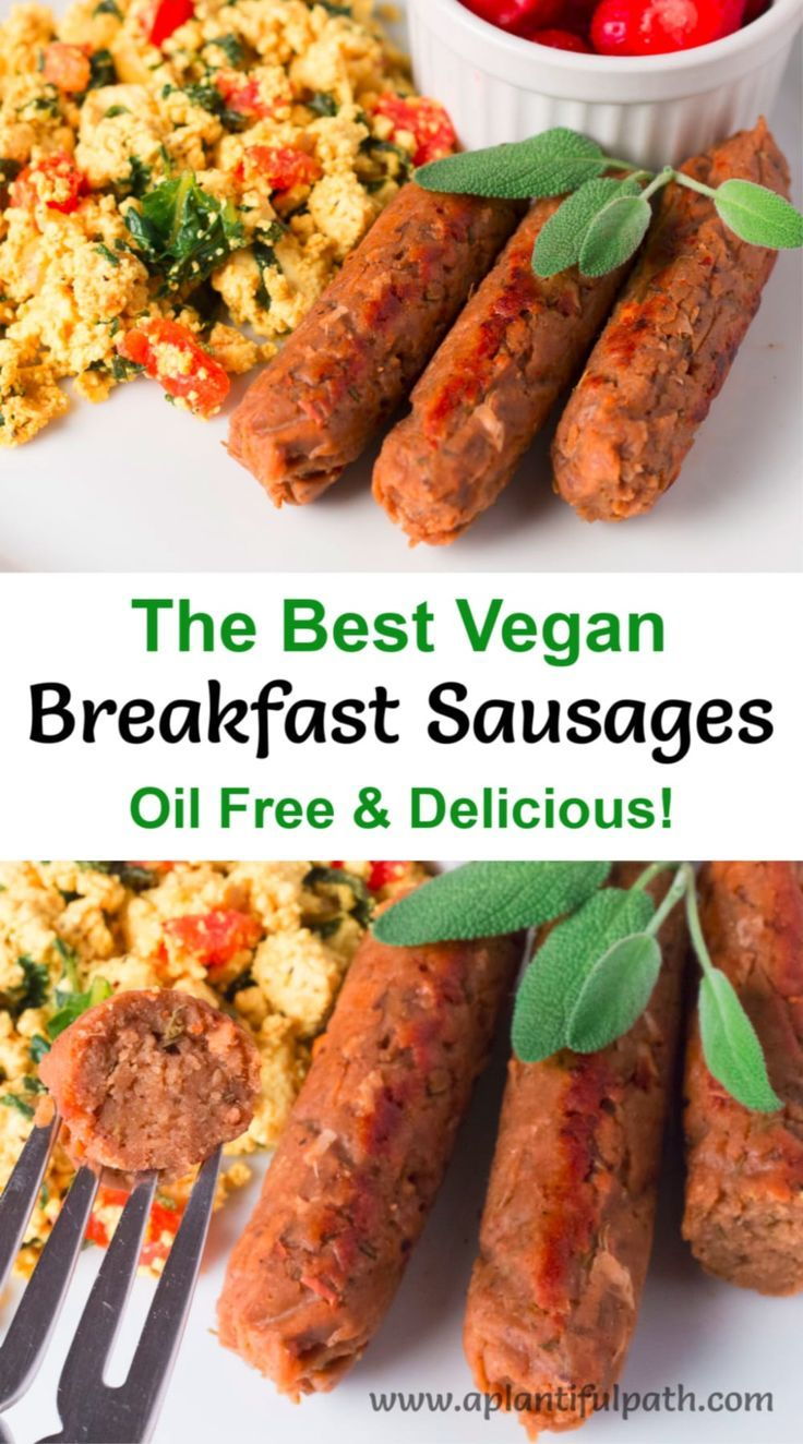 Vegan Breakfast Sausage Links Oil Free And Delicious A Plantiful Path Recipe In 2020 Breakfast Sausage Links Vegetarian Recipes Sausage Breakfast