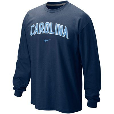 Nike North Carolina Tar Heels (UNC) Classic Arch Long Sleeve T-Shirt - Navy Blue