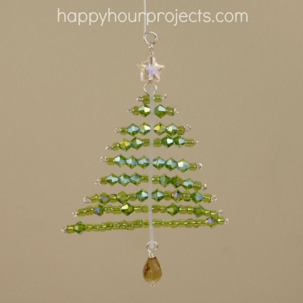 Wonderful Diy Ribbon Beads Christmas Tree: 17 Best Images About Christmas Bead And Wire Crafts On
