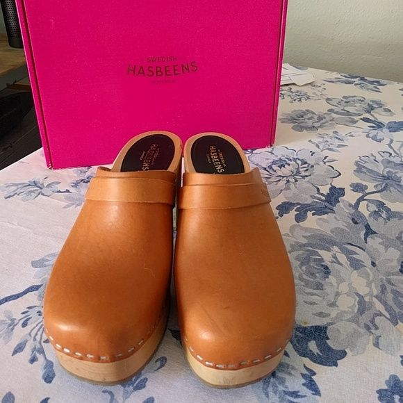 Swedish Hasbeens Shoes - Swedish Hasbeens Louise platform clogs size 6 / 36