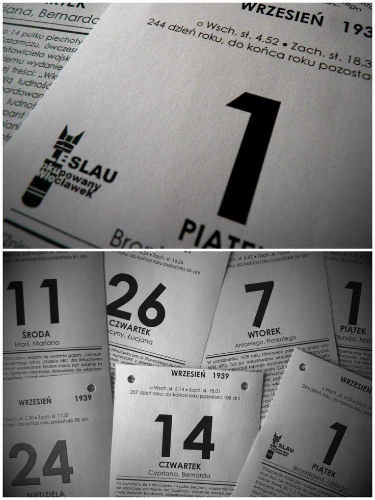 """""""kartki z kalendarza"""" • Włocławek w II wojnie światowej • """"pages from the calendar"""" • Wloclawek in World War II"""