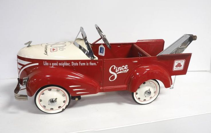 Buy online, view images and see past prices for State Farm Insurance pedal car wrecker. Invaluable is the world's largest marketplace for art, antiques, and collectibles.