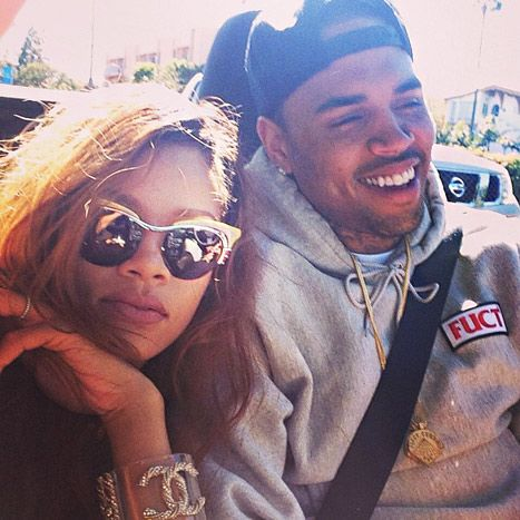 Rihanna and Chris Brown Go Shopping Together, Cuddle in New Instagram Picture