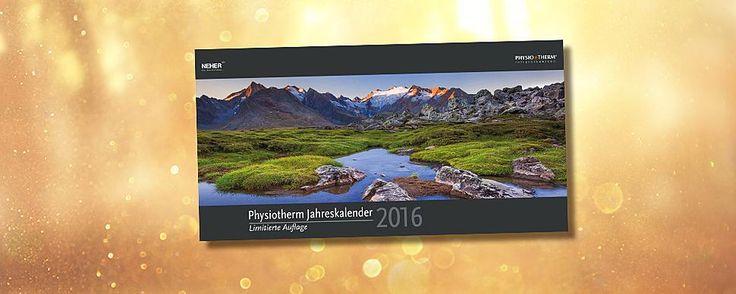 Physiotherm Jahreskalender 2016 - jetzt einen von 20 beliebten Kalender gewinnen! www.physiotherm.com/gewinnspiel