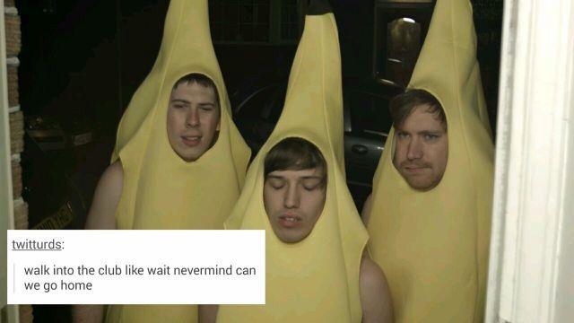 Hat Films in banana costumes