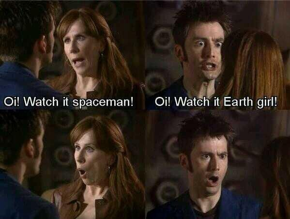 haha the doctor and Donna are the best