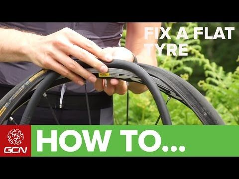 How To Fix A Flat Tyre - Fix A Road Bike Puncture - YouTube