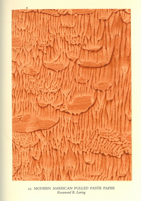 Pulled paste paper by Rosamund Loring  http://pem-voyager.hosted.exlibrisgroup.com/cgi-bin/Pwebrecon.cgi?BBID=131872